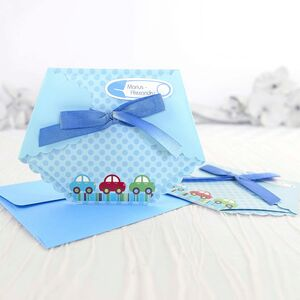 Invitație pampers bleu cod 15502