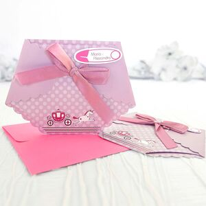 Invitație pampers roz cod 15503