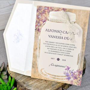 Invitatie de nunta cu tematica florala cod 39319