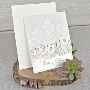 Invitatie de nunta cu modele florale cod 39321