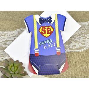 Invitatie botez super bebe cod 15609