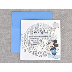 Invitatie botez eleganta Mickey cod 15710