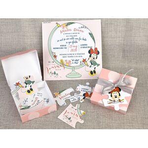 Invitatie botez cutiuta puzzle cu Minnie cod 15711