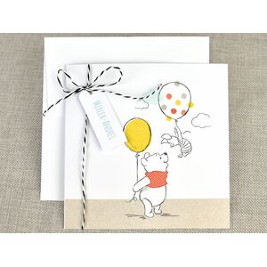 Invitatie botez Winnie the Pooh cu balon cod 15724