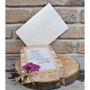 Invitatie nunta cu tematica florala cod 2748