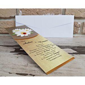 Invitatie nunta cu gargarita si margarete cod 2753