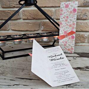 Invitatie nunta cu tematica florala cod 2759