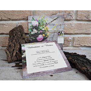 Invitatie nunta cu tematica florala cod 2772