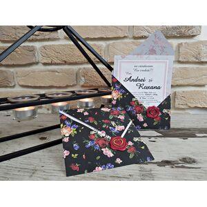 Invitatie nunta cu tematica florala cod 2773
