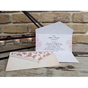 Invitatie nunta cu tematica florala cod 2778