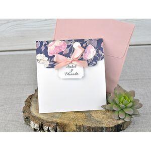 Invitatie de nunta cu tematica florala cod 39336
