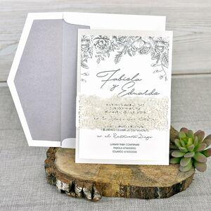 Invitatie de nunta eleganta cod 39337