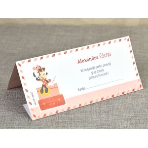 Card de masa/plic de bani botez 'Minnie Travel' cod 5701