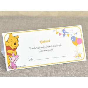 Card de masa/plic de bani botez 'Winnie the Pooh' cod 5729