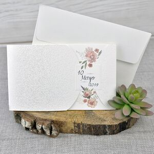 Invitatie de nunta cu tematica florala cod 39331