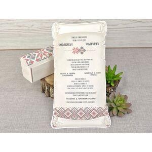 Invitatie de nunta cu modele traditionale cod 39347