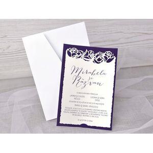Invitatie de nunta catifea cod 39348