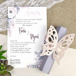 """Invitatie de nunta papirus """"fluture"""" cod 39619"""