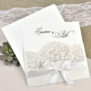 Invitatie nunta cu decupaje laser cod 39621