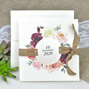 Invitatie nunta elemente florale cod 39622