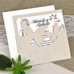 Invitatie de nunta fluturi cod 39626