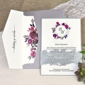 Invitatie de nunta taiere cu laser cod 39630