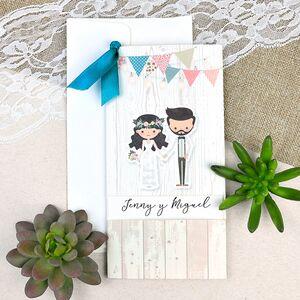 Invitatie de nunta rustica cod 39631