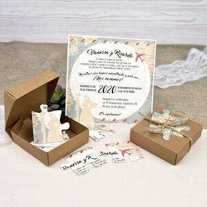 Invitatie nunta tip puzzle cod 39639