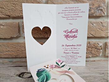 Invitatie nunta cu decupaj laser cod 2787